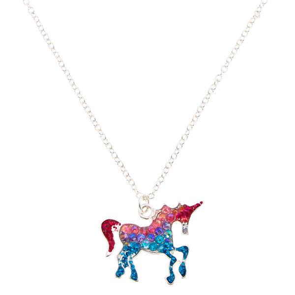 Claire's - glitter ombre unicorn pendant - 1