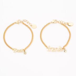Gold Chain Friendship Bracelets - 2 Pack,
