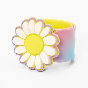 Happy Daisy Tie Dye Slap Bracelet,