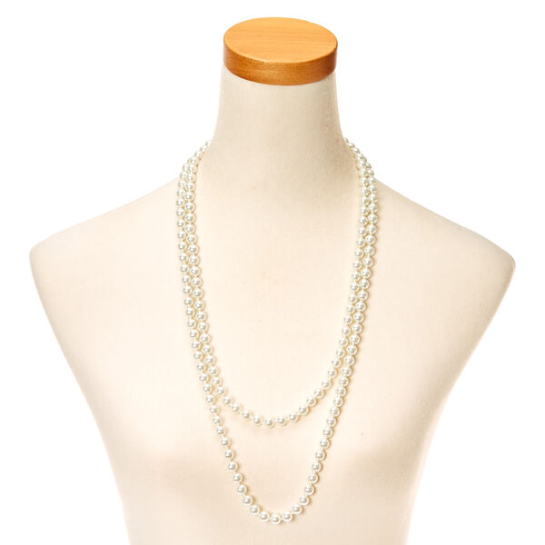 Claire's - long pearl effect rope necklace - 2