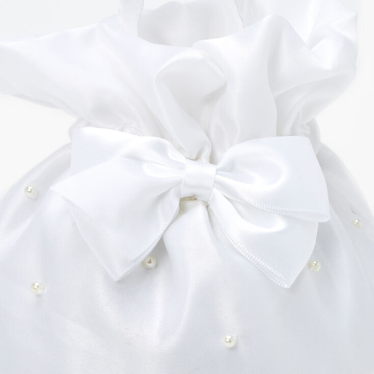 Claire's Club Pearl Clinch Bag - White,