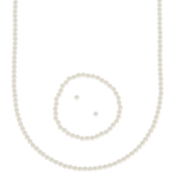Claire's - girly imitation pearl jewelry set - 1