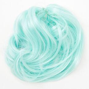Wavy Faux Hair Tie - Mint,