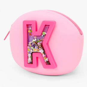 Shaker Initial Jelly Coin Purse - Pink, K,