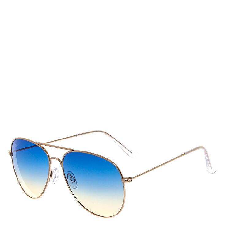 Aviator Ocean Ombre Sunglasses,