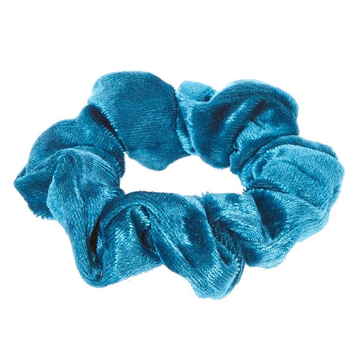 Medium Velvet Hair Scrunchie - Teal,