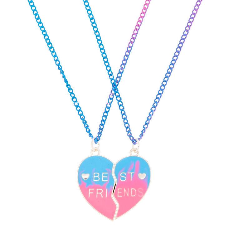 Best Friends Paint Drip Pendant Necklaces - 2 Pack,