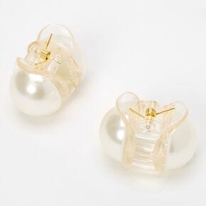 Mini Pearl Hair Claws - 2 Pack,
