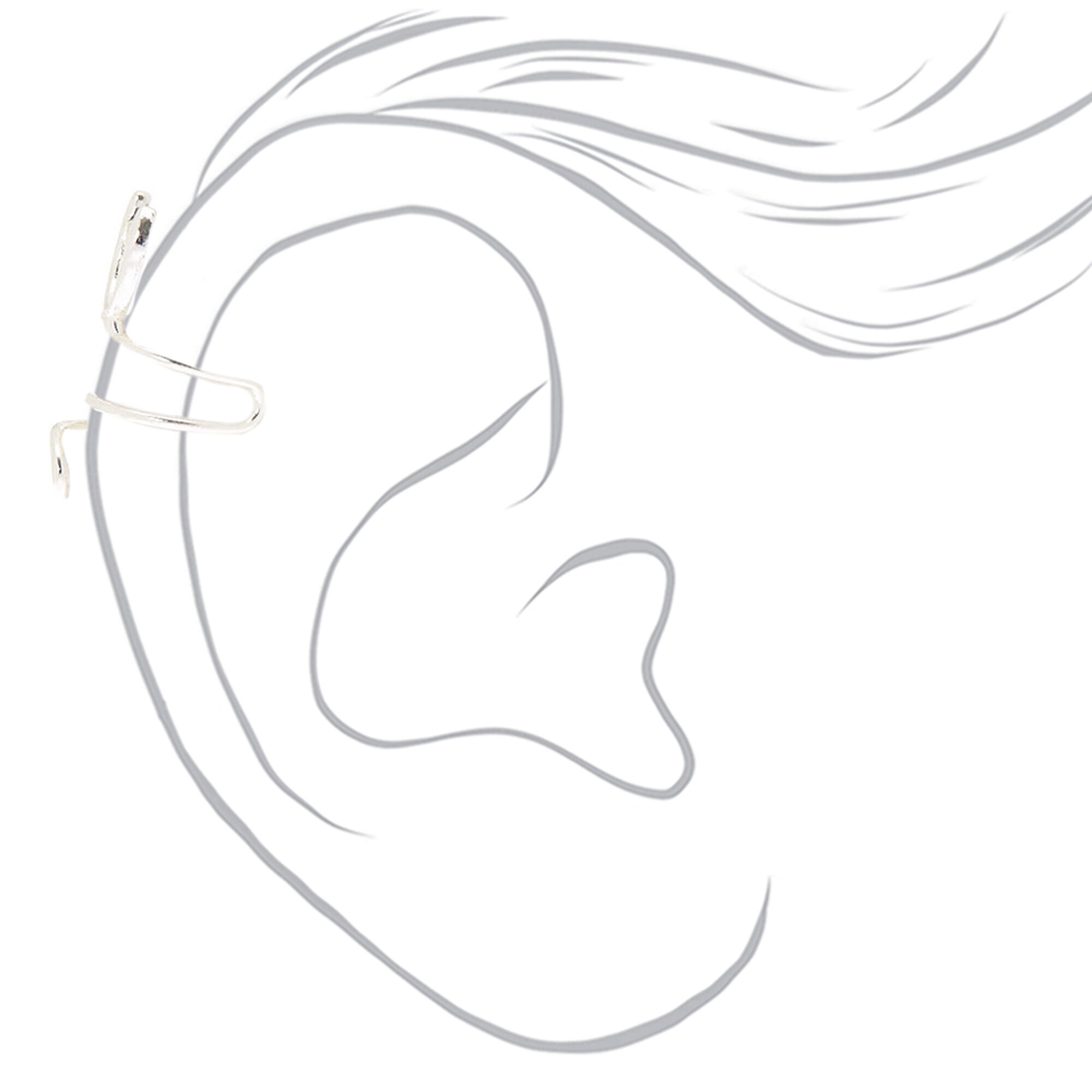 Silver Wire Cat Ear Cuff Earring | Claire\'s US