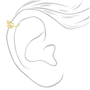 Fausses boucles d'oreille pour cartilage papillon couleur doré,