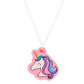 Squishy Glam Unicorn Pendant Necklace,