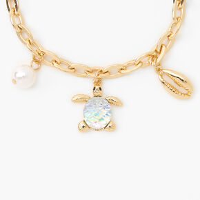 Down by the Sea Charm Bracelet - Gold,