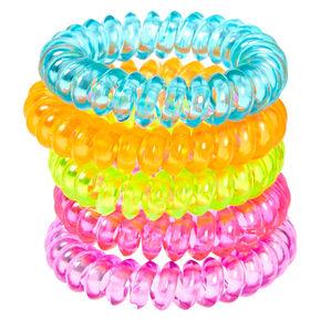 Claire S Club Neon Coil Bracelets 5 Pack