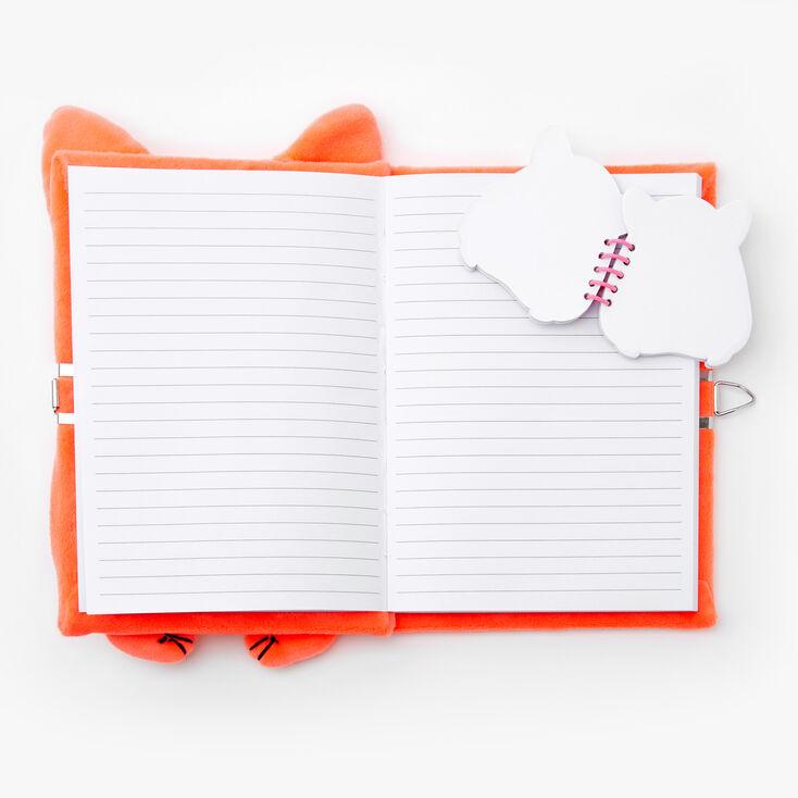 Orange Hamster Lock Diary Notebook Set - 2 Pack,