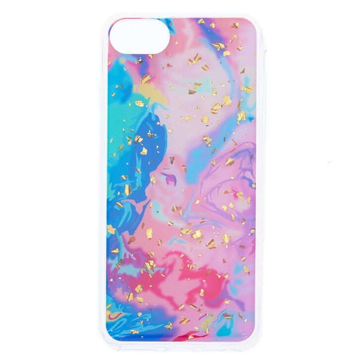 pretty nice 86d5f cac7a Rainbow Marble with Gold Foil Flakes Phone Case - Fits iPhone 6/7/8 Plus