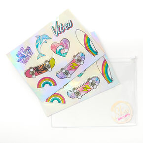 Sky Brown™ Holographic Sticker Set - 16 Pack,