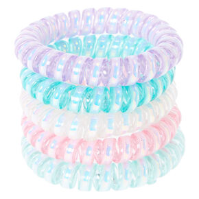 Claire's Club Pearled Coil Bracelet Set - 5 Pack,
