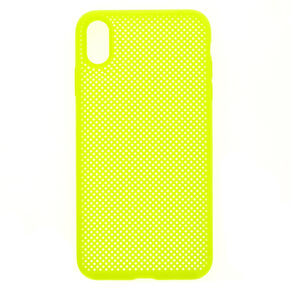 Neon Yellow Perforated Phone Case - Fits iPhone XS Max,