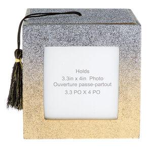 c716abfd8efd Glitter Graduation Photo Frame Cube - Black