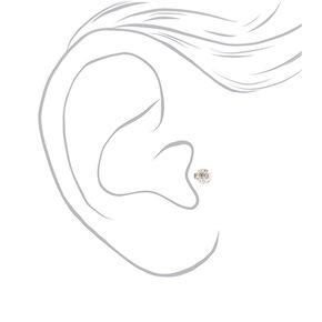 Titanium 16G Fireball Tragus Stud Earring - 3 Pack,