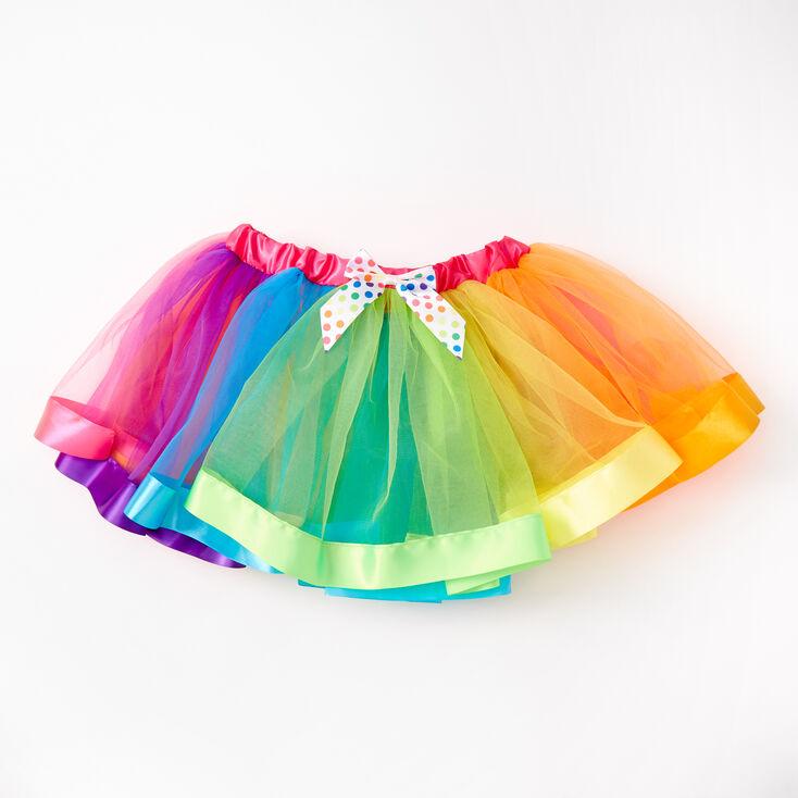 Satin Trim Rainbow Tutu,