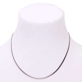 Hematite Simple Sleek Statement Necklace,