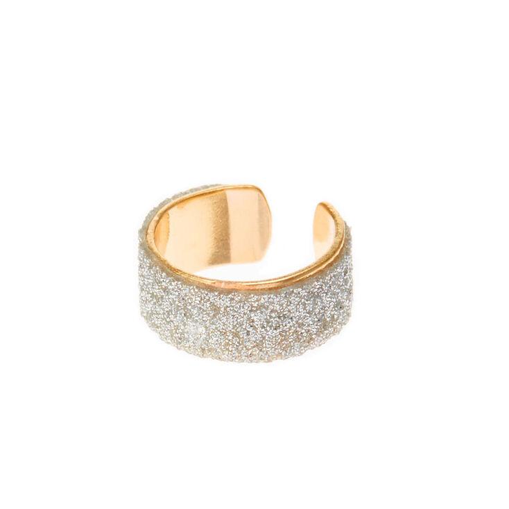 Gold Silver Glitter Ear Cuff,