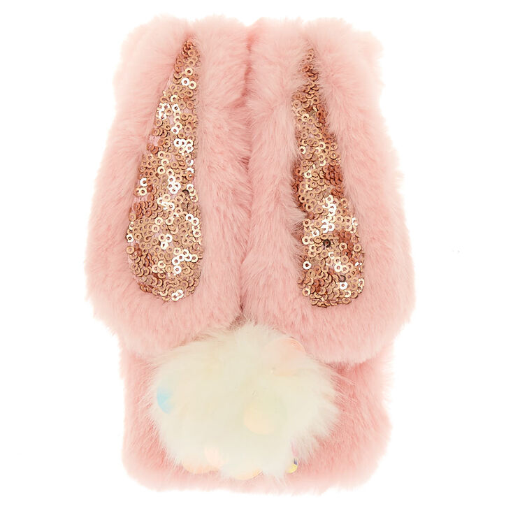 Pink Faux Fur Bunny Phone Case - Fits iPhone 5/5S,