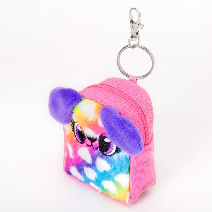 Dottie the Puppy Rainbow Mini Backpack Keychain,
