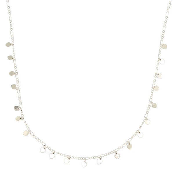 Claire's - delicate heart charm statement necklace - 1