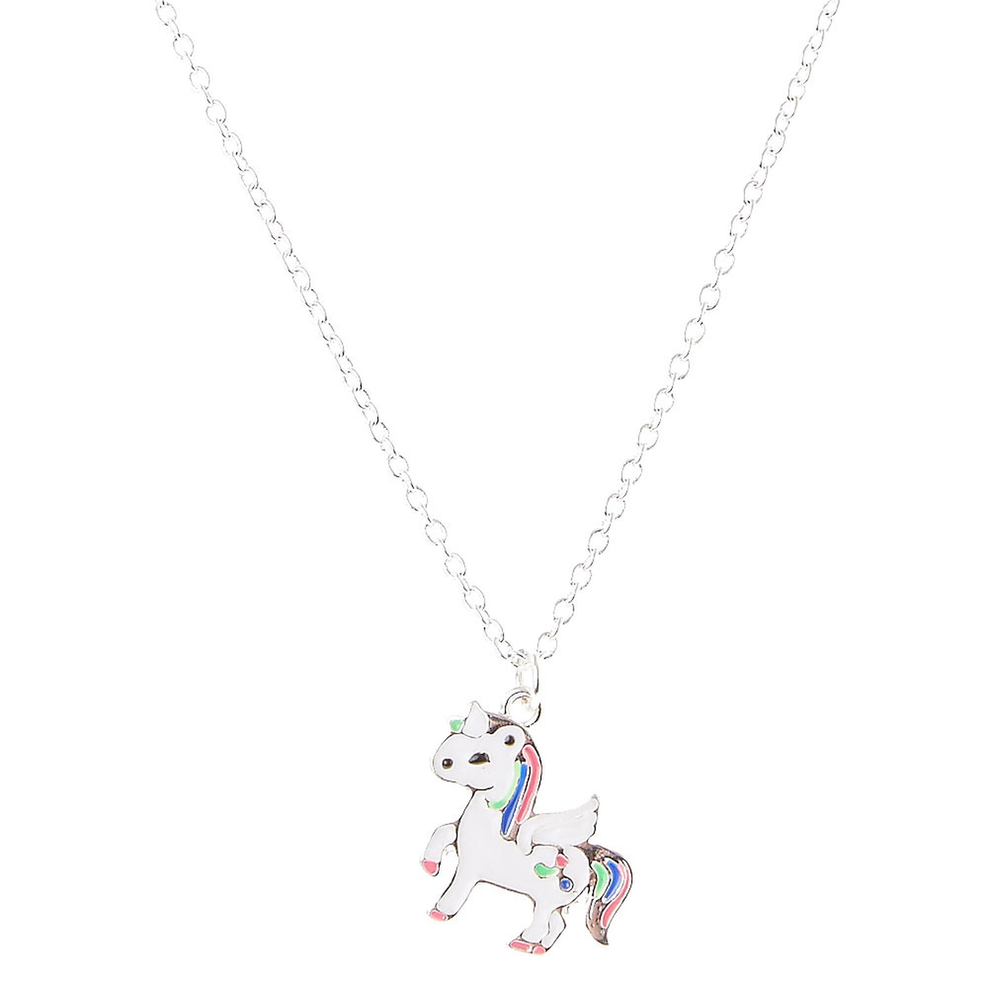 long magical necklace unicorn s claire