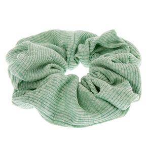 Medium Ribbed Hair Scrunchie - Mint,