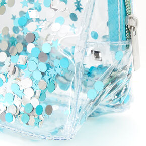 Shaker Glitter Transparent Makeup Bag - Mint,