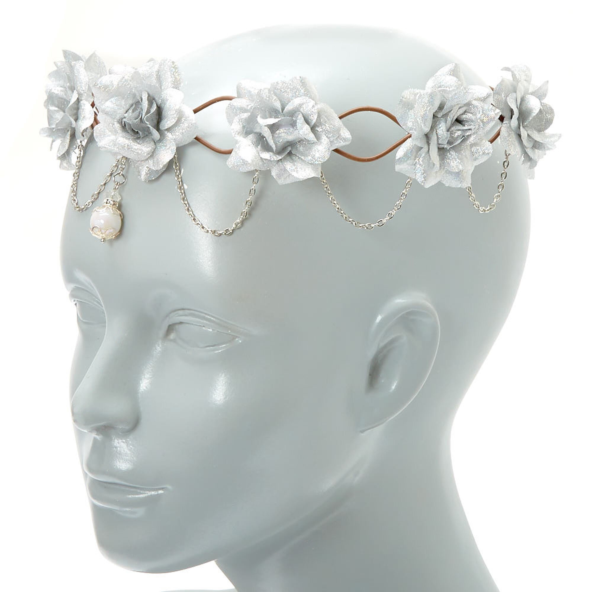 Silver flowers chains flower crown claires chains flower crown silver flowers amp chains flower izmirmasajfo