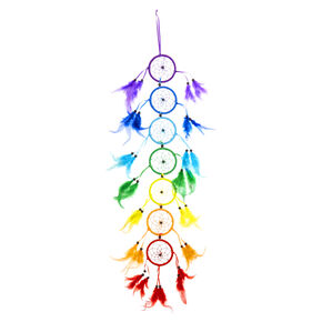 Long Rainbow Dreamcatcher Wall Art,