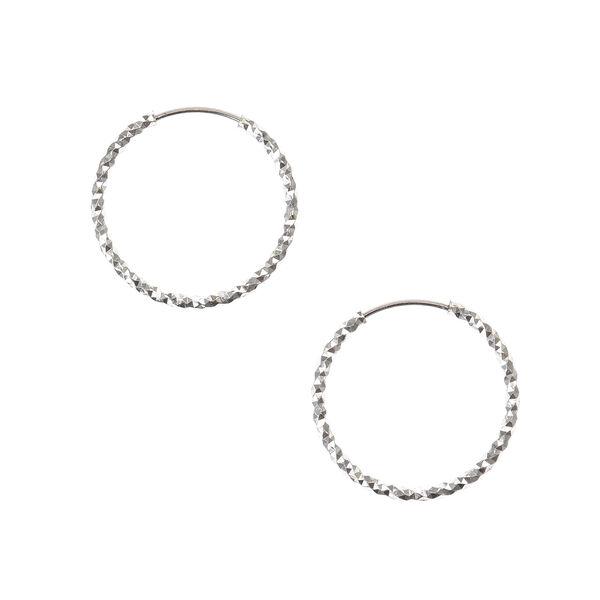 Claire's - 20mm laser cut hoop earrings - 1