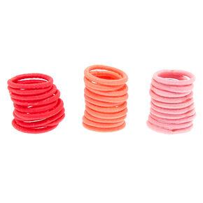 Mini Pink Tone Hair Bobbles - 30 Pack,