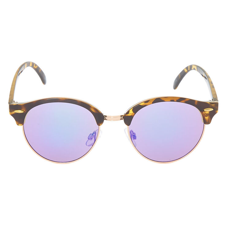 Mod Round Tortoise Shell Sunglasses - Brown,