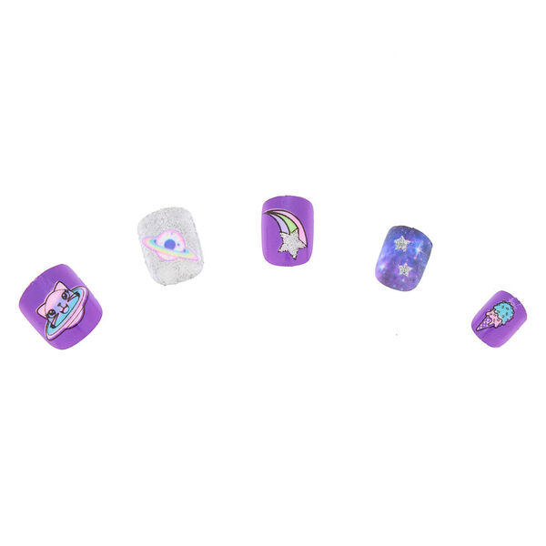 Claire's - cosmicanimal press on faux nail set - 1