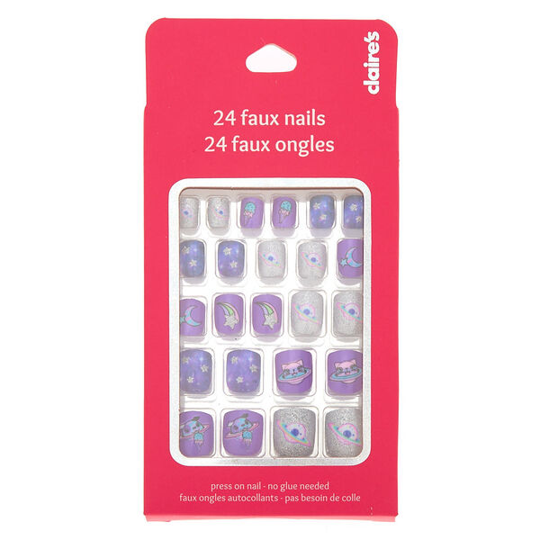 Claire's - cosmicanimal press on faux nail set - 2