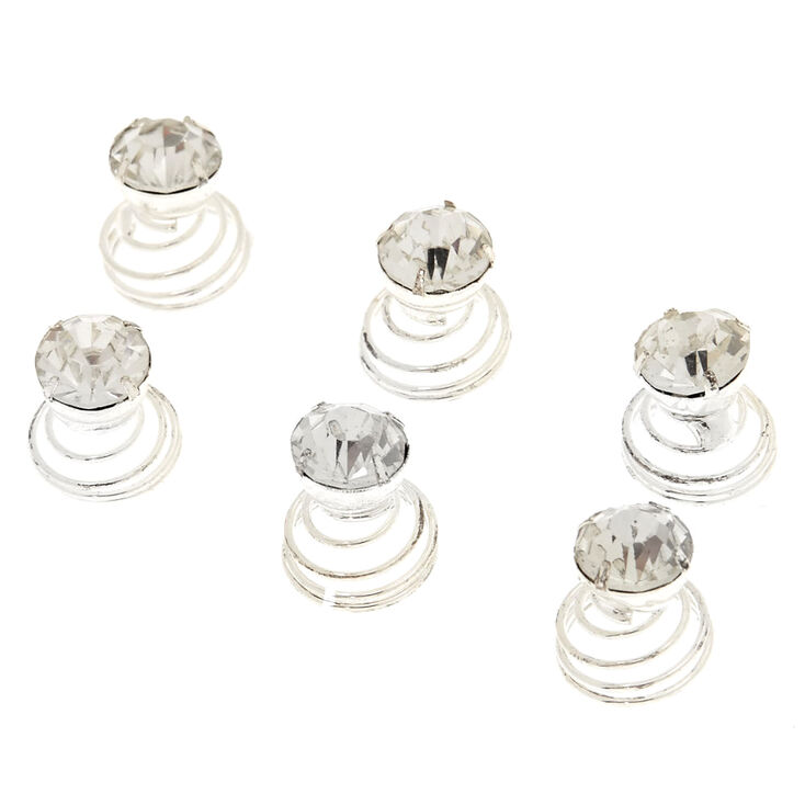 6 Pack Round Stone Hair Spinners,