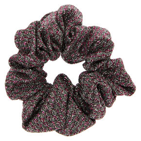 Medium Pink & Grey Lurex Hair Scrunchie,