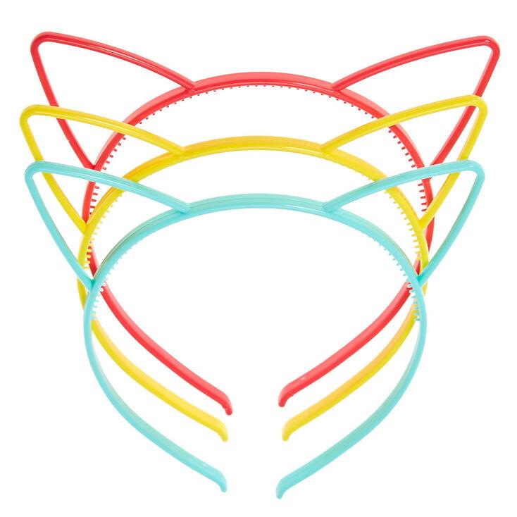 Serre-têtes aux tons pastel et vifs à oreilles de chats pour enfants,