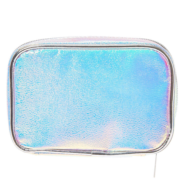 813488bc43 Silver Holographic Rectangular Cosmetic Case
