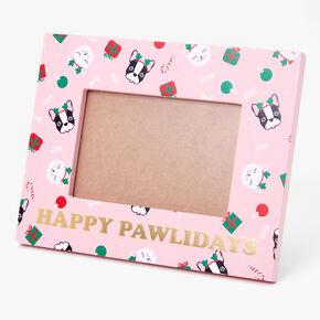 Happy Pawlidays Photo Frame - Pink,