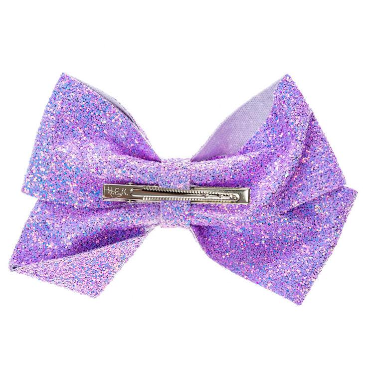Jojo Siwa Violet Lilas Rainbow Sequin Bow