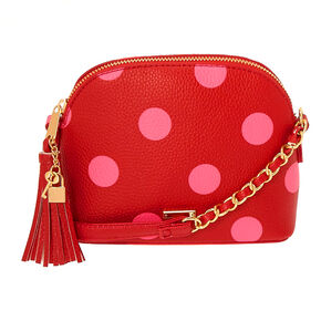 Go to Product: Polka Dot Crossbody Bag - Red from Claires