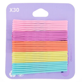 Pastel Rainbow Bobby Pins - 30 Pack,