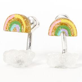 Rainbow Cloud Ear Jacket Earrings,