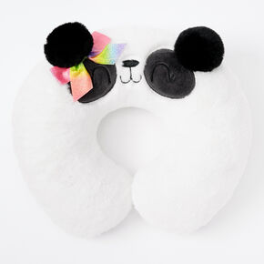 Paige the Panda Plush Travel Pillow - White,